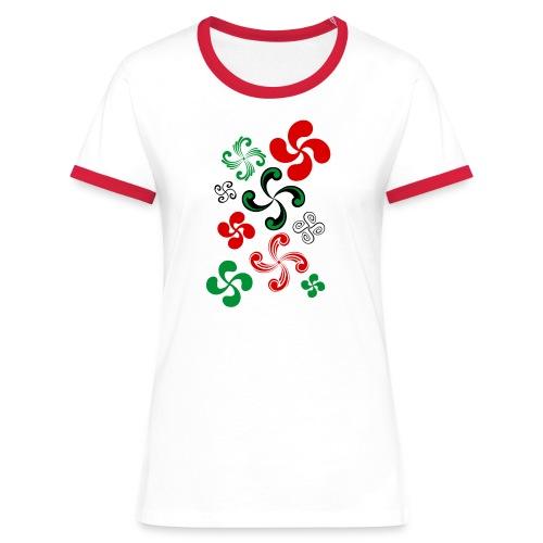 Lauburu croix Basque - T-shirt contrasté Femme