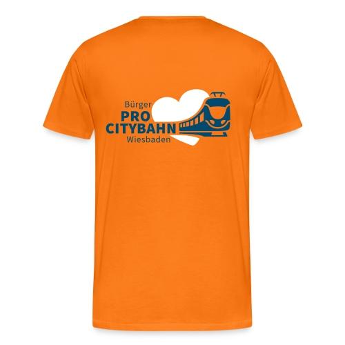 ProCB Shirt, Logo vorne klein + hinten groß - Männer Premium T-Shirt