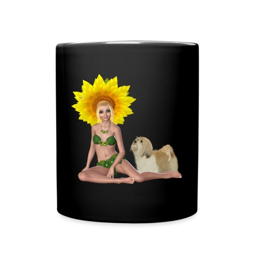 Sonnenblumengruß - Tasse einfarbig