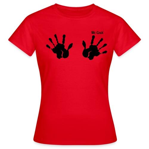 Mr.Cock Frauen T-Shirt 2 Hände - Frauen T-Shirt