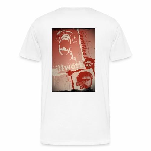 Nature Monkey mit Rückendruck - Männer Premium T-Shirt
