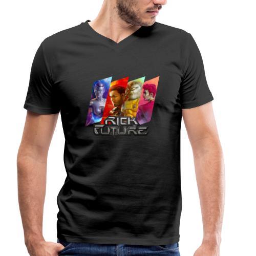 Rick Future Crew Tags, 100% Bio-Baumwolle T-Shirt mit V-Ausschnitt ♂ - Männer Bio-T-Shirt mit V-Ausschnitt von Stanley & Stella