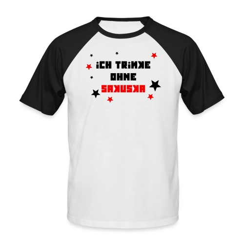 Ich trinke ohne Sakuska - Männer Baseball-T-Shirt