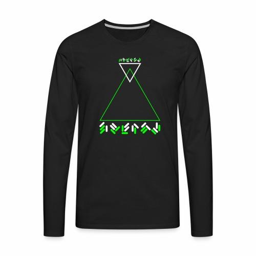 Alien Text - langarm Shirt - Männer Premium Langarmshirt