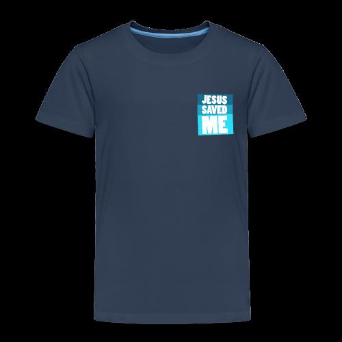 Kinder Premium T-Shirt - Jesus saved me. Jesus hat mich errettet.
