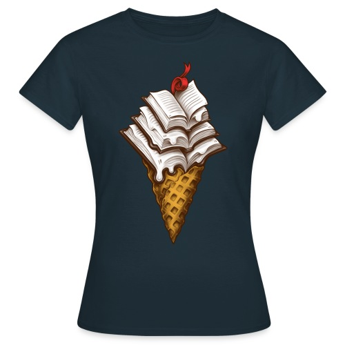 Ice Cream Books - Women's T-Shirt