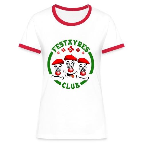 Festayres Club - T-shirt contrasté Femme