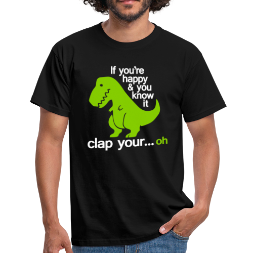 T-shirt, Happy T-Rex - T-shirt herr