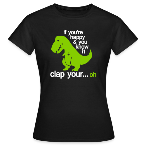 T-shirt dam, Happy T-Rex - T-shirt dam