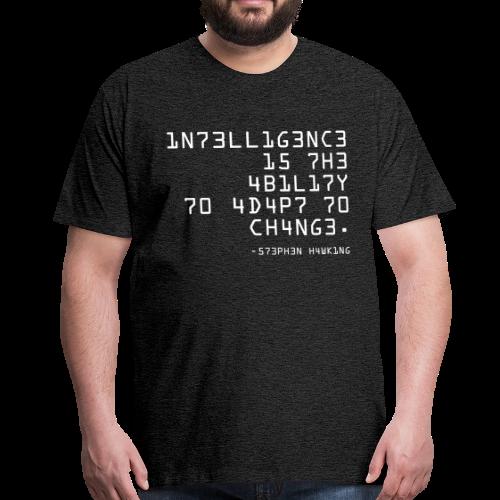 T-shirt Premium, 1N73LL1G3NC3 - Premium-T-shirt herr