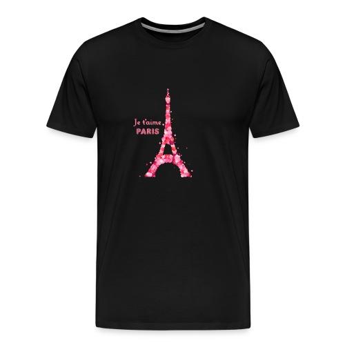 t shirt homme je t'aime Paris - T-shirt Premium Homme