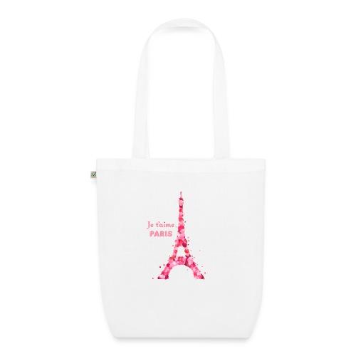 bag je t'aime Paris blanc - Sac en tissu biologique