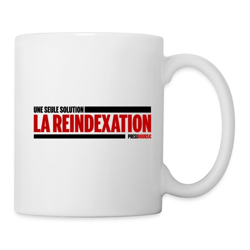 PrésiBours€ Réindexation - Mug blanc