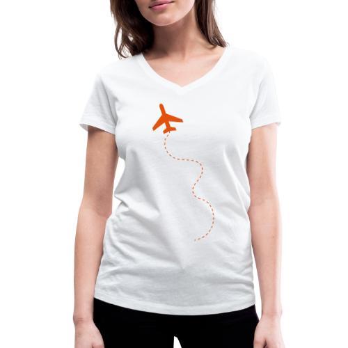 Take-off: Frauen T-Shirt (V-Ausschnitt) - Frauen Bio-T-Shirt mit V-Ausschnitt von Stanley & Stella
