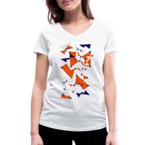 Planealicious: Frauen T-Shirt (V-Ausschnitt) - Frauen Bio-T-Shirt mit V-Ausschnitt von Stanley & Stella