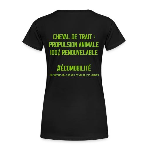 T-Shirt MC F renouvelable - T-shirt Premium Femme