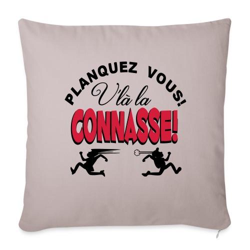 HUMOUR ET RIRE GARANTIE coussin connasse - Housse de coussin décorative 44x 44cm
