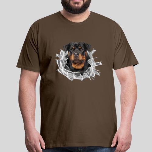 Rottweiler im Glas Loch - Männer Premium T-Shirt