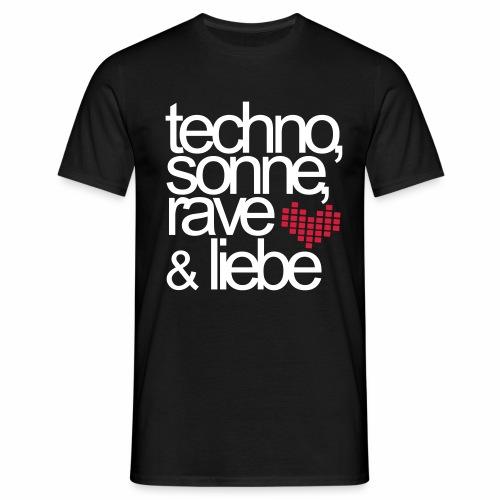 Techno Sonne Rave Liebe - T-Shirt - Männer T-Shirt
