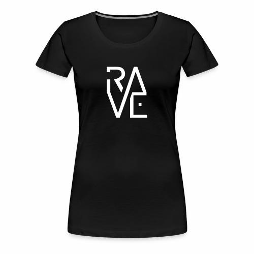 Rave Minimal Text - T-Shirt - Frauen Premium T-Shirt