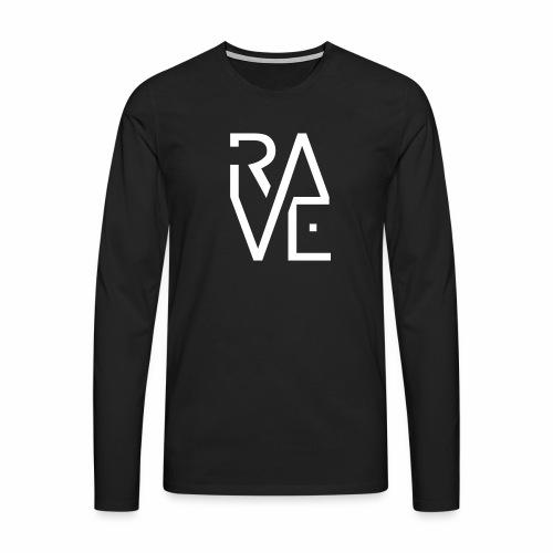 Rave Minimal Text - langarm Shirt - Männer Premium Langarmshirt
