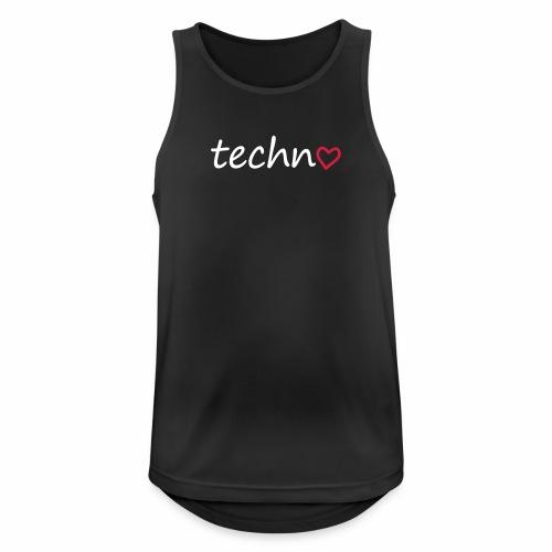 Techno mit Herz - Tanktop - Männer Tank Top atmungsaktiv