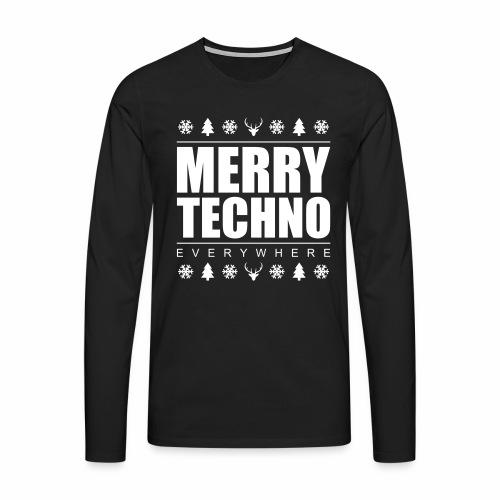 Merry Techno - langarm Shirt - Männer Premium Langarmshirt