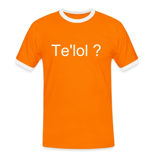 Te'lol? - Kontrast-T-skjorte for menn