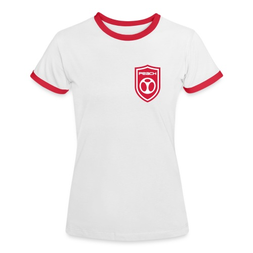 Women's Peachy Football Top - Women's Ringer T-Shirt