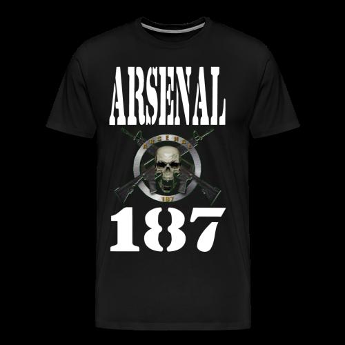 187 Model 4 Lettre Blanche - T-shirt Premium Homme