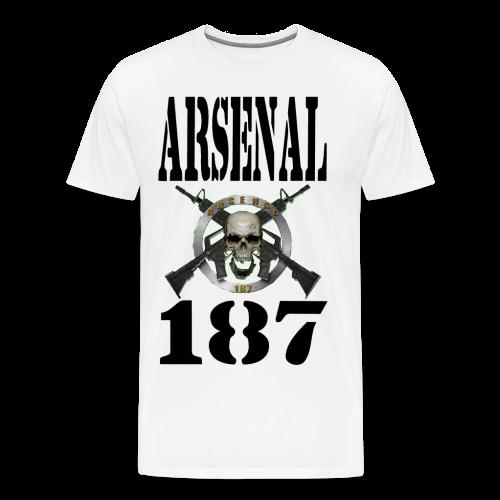187 Model 4 Lettre Noir - T-shirt Premium Homme
