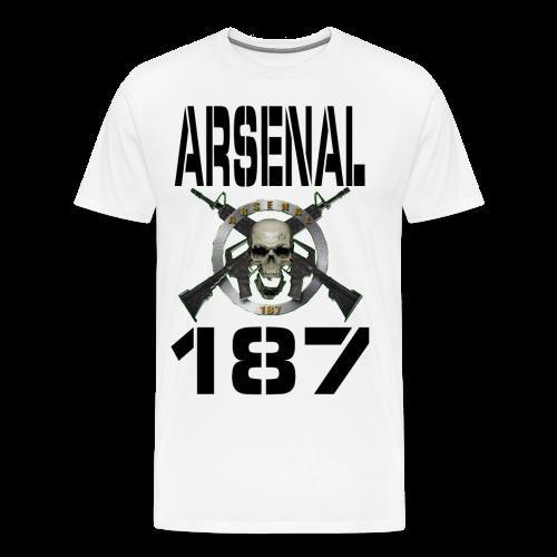 187 Model 5 Lettre Noir - T-shirt Premium Homme