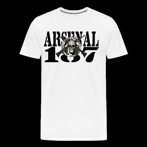 187 Model 6 Lettre Noir - T-shirt Premium Homme