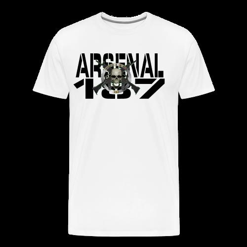 187 Model 7 Lettre Noir - T-shirt Premium Homme