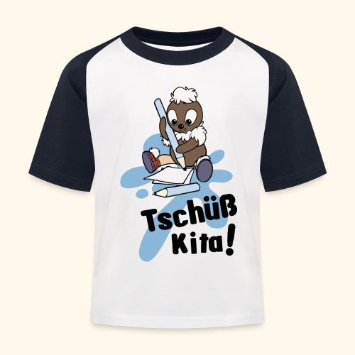 Pitti Tschüß Kita! Kinder Baseball T-Shirt - Kinder Baseball T-Shirt