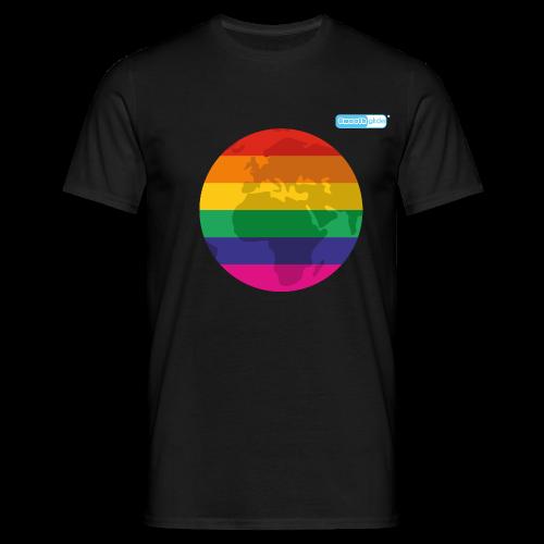 Smoothglide Männer T-Shirt Pride World - Männer T-Shirt