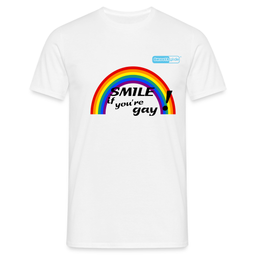 Smoothglide Männer T-Shirt Rainbow Smile if.......... - Männer T-Shirt