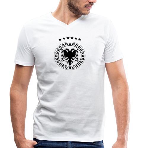 Männer Bio-T-Shirt mit V-Ausschnitt von Stanley & Stella Albanien Kosovo Schweiz - Männer Bio-T-Shirt mit V-Ausschnitt von Stanley & Stella