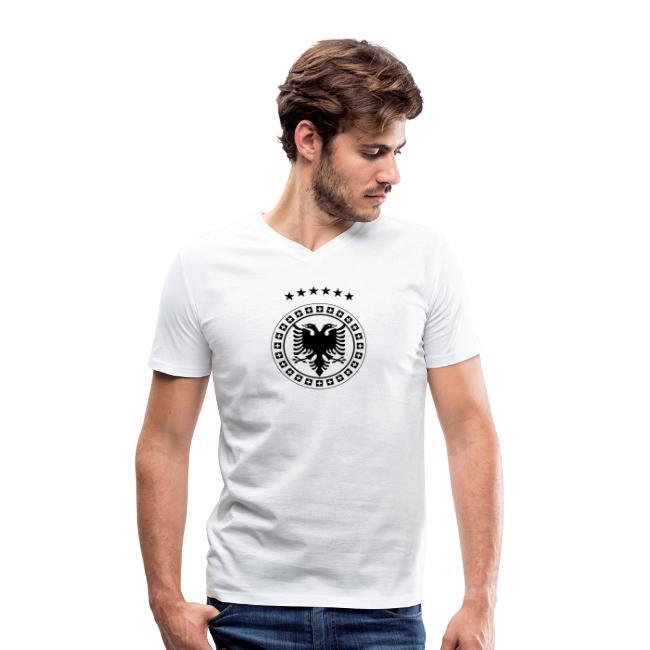 Männer Bio-T-Shirt mit V-Ausschnitt von Stanley & Stella Albanien Kosovo Schweiz