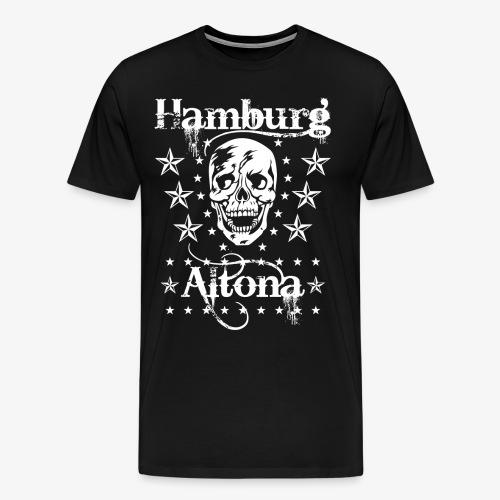 Hamburg Stadtteil Altona Skull Totenkopf 48 - Männer Premium T-Shirt