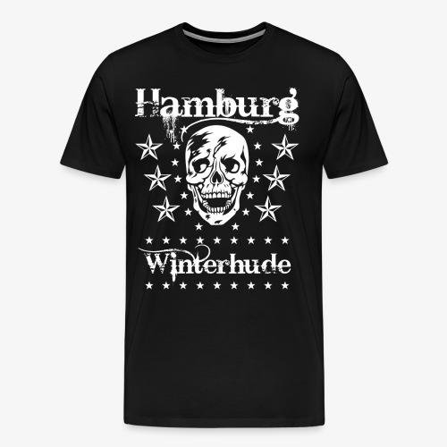 Hamburg Stadtteil Winterhude Skull Totenkopf T-Shirt 49 - Männer Premium T-Shirt