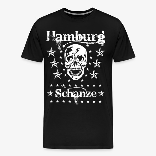Hamburg Stadtteil Schanze Skull Totenkopf 54 - Männer Premium T-Shirt