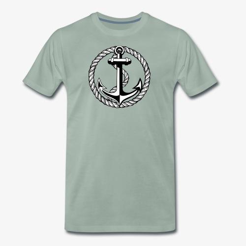 Anker Seil Vintage schwarz-weiss T-Shirt 65b - Männer Premium T-Shirt