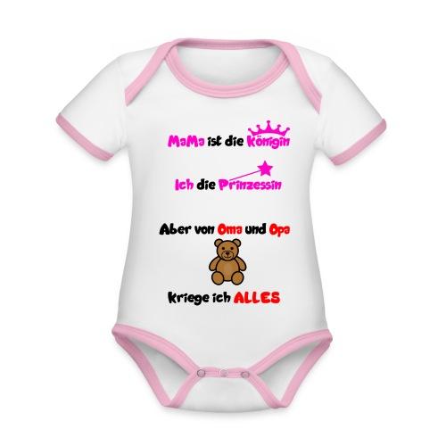 Meine kleine Prinzessin - Baby Bio-Kurzarm-Kontrastbody
