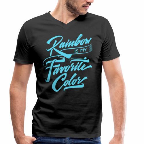 Rainbow is my favorite color - Männer Bio-T-Shirt mit V-Ausschnitt von Stanley & Stella