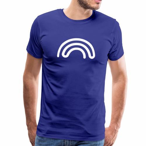 DBNA Regenbogen mit URL auf dem Rücken - Männer Premium T-Shirt