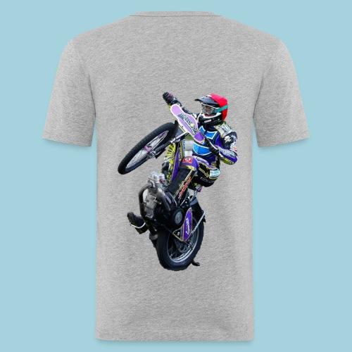 Shirt Tobi Wheely hinten - Männer Slim Fit T-Shirt