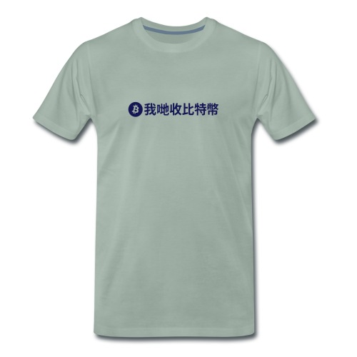 Premium Men - We Accept Bitcoin - Men's Premium T-Shirt