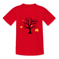 T-Shirts ~ Teenager T-Shirt ~ Kinder-Shirt mit Bäumchen