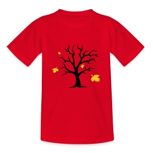 Kinder-Shirt mit Bäumchen - Teenager T-Shirt